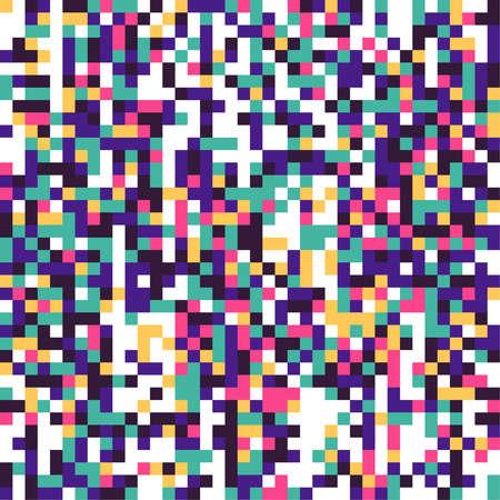 Multi colored pixelation.