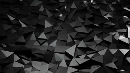 Abstract background with triangulated surfaces.