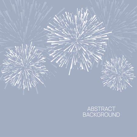 Vector firework design Ilustração