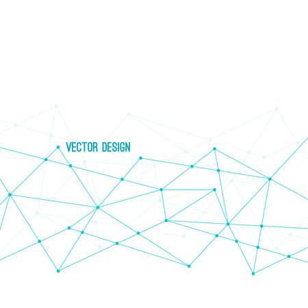 Abstract plexus technology background.