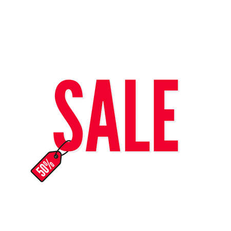 Red word SALE