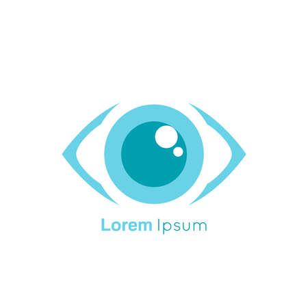 Eye symbol on white background.