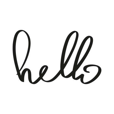 Vector handwriting word hello. Ilustração