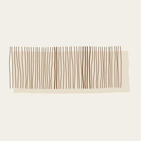 Vector illustration in minimal style Ilustração
