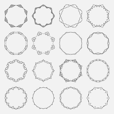 Vector round frame.