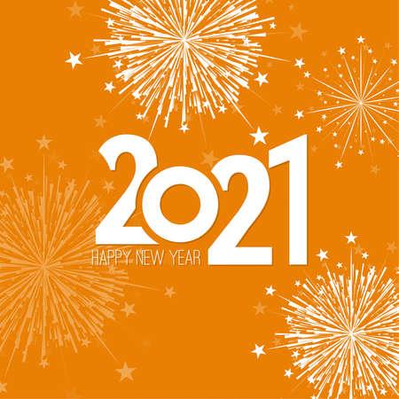 Creative happy new year 2021 Ilustração