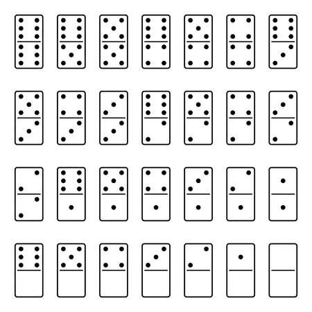 Vector set of domino