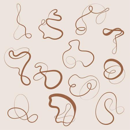 Vector set of squiggles Vektorové ilustrace