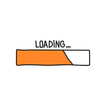 Loading bar doodle icon.