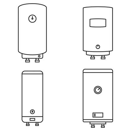 Home water heater. 向量圖像