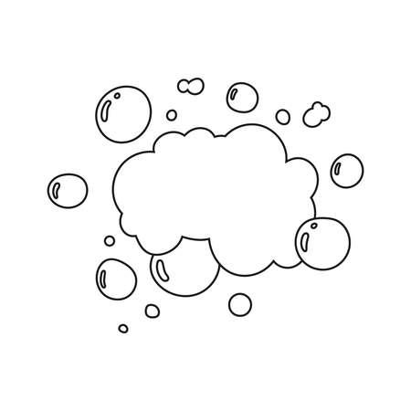 Hand drawn soap bubbles.