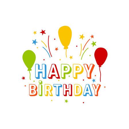 Inscription happy birthday 向量圖像