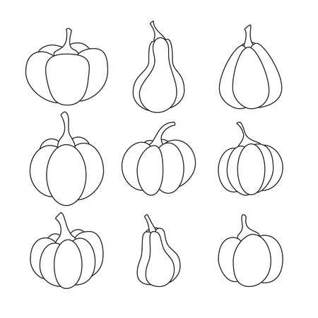 Orange pumpkin vector icon.