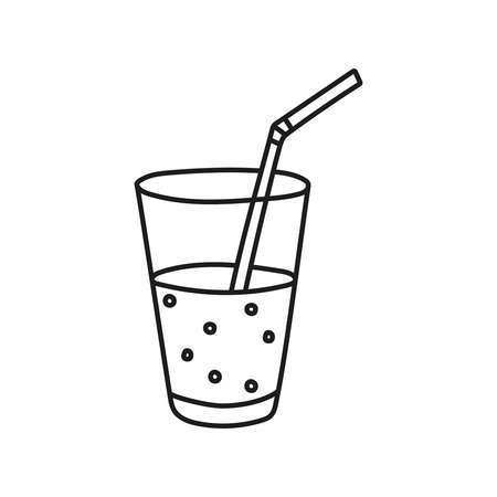 Vector sketch of hand drawn glass