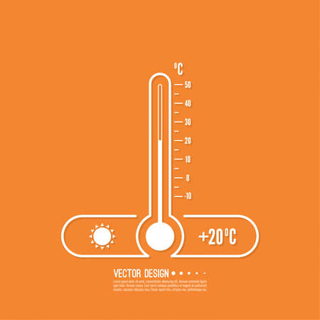 The meteorology thermometer