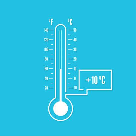 The meteorology thermometer Vektorové ilustrace