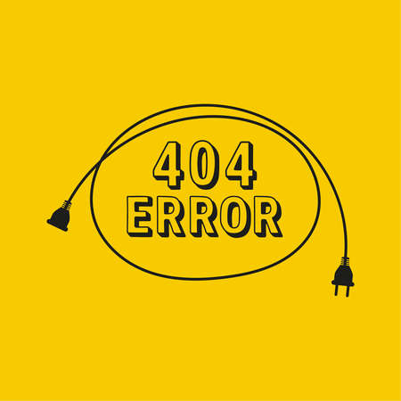 404 connection error. Vector abstract background