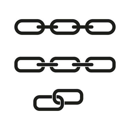 Chain vector icon with links.