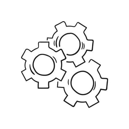 Gear wheel and cog wheel icon.