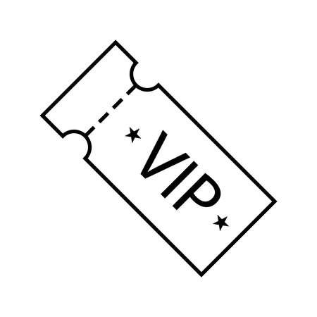 Vector icon of vip ticket