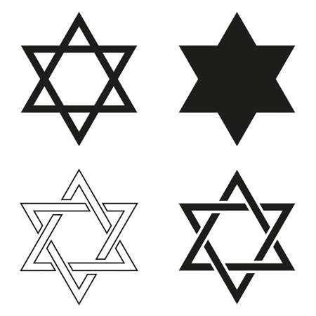 Star of David vector icon.