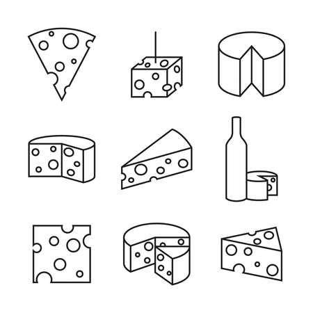 Vector icon cheese. 向量圖像