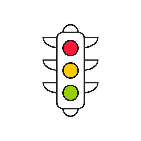 Abstract background with traffic light.