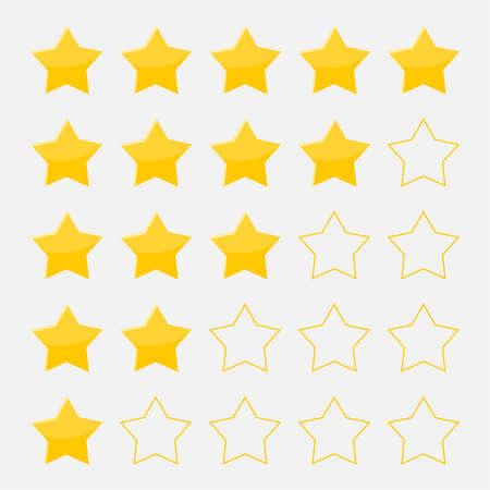 Vector set of five stars 向量圖像