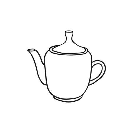 Vector hand drawn teapot icon. 向量圖像