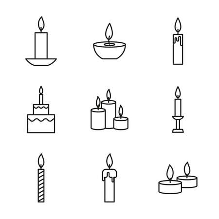 Vector set of candles icons.