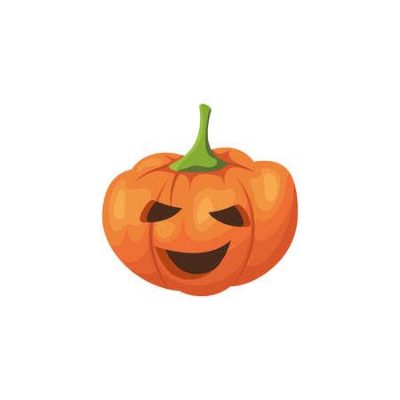 Halloween scary pumpkin. 向量圖像