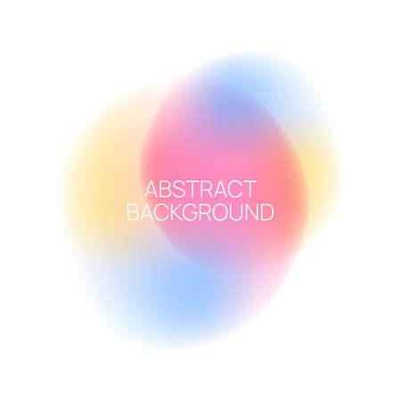 Vector blurred glowing circle. 向量圖像
