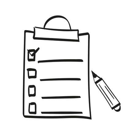 Vector hand drawn clipboard 向量圖像