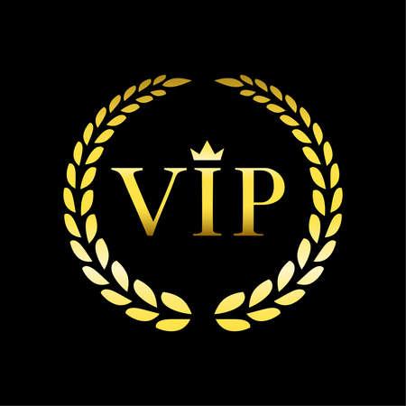Vector inscription vip