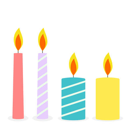 Vector set of festive candles.