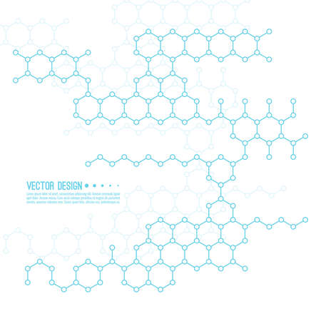 Abstract background of molecular structure.