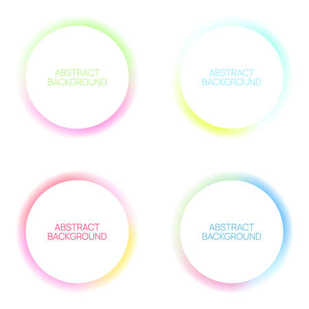 Vector multicolored glowing circles. 向量圖像