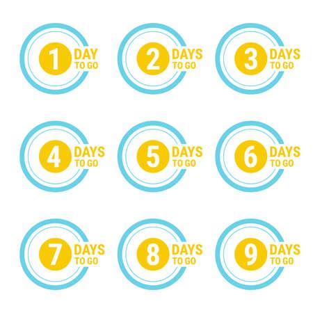 Countdown left days banner. 向量圖像