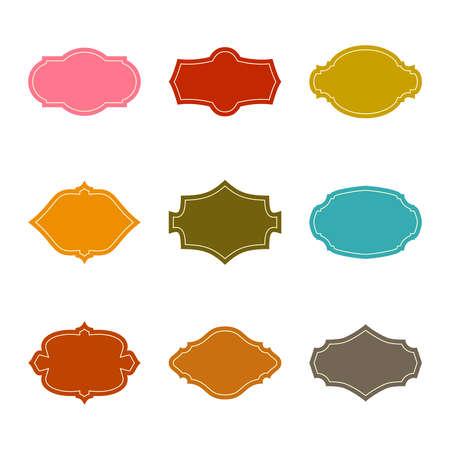 Set of vintage vector frames. 向量圖像