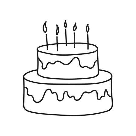 Vector birthday cake 向量圖像