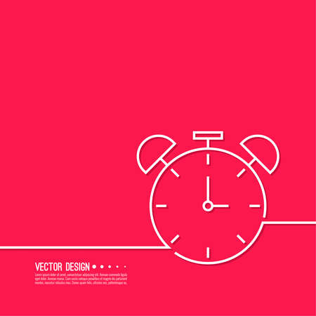 Vector background with alarm clock.