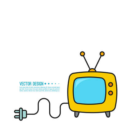 Vector icon of old TV. 向量圖像