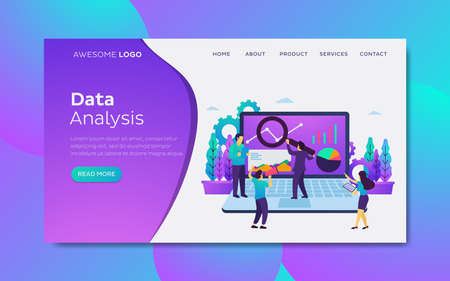 Data analysis Landing page template