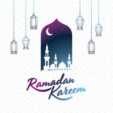 Ramadan kareem islamic design background, beautiful vector greeting card