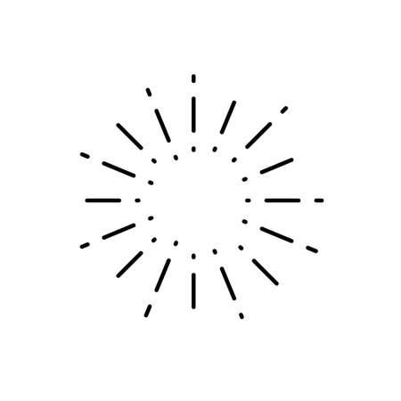 Vintage sunburst, light rays, firework sparks vector design element vector template