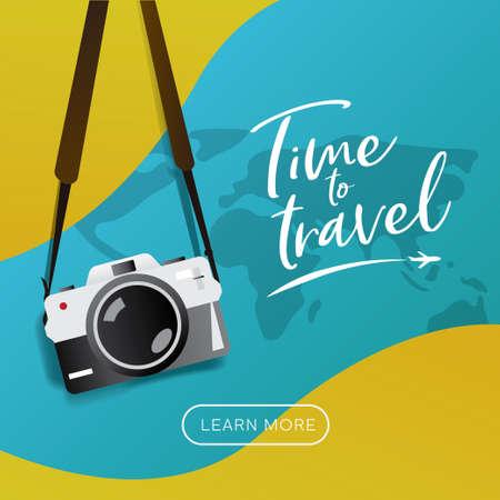 Travel banner illustration for advertising