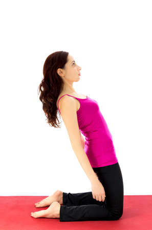 strengthening: Strengthening the upper legs in yoga   Series with the same model available