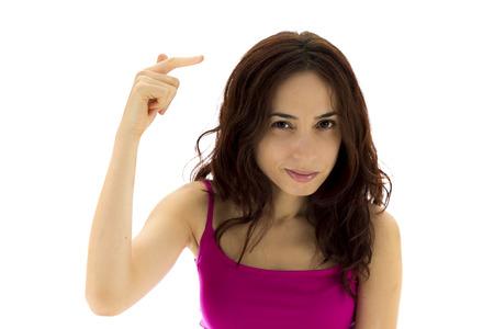insanity: La mujer joven est� mostrando un gesto de locura Serie del mismo modelo disponible