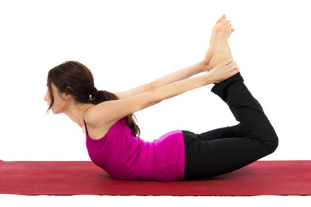 strengthening: Young woman doing Strengthening and Stretching