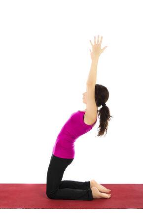 strengthening: Young woman strengthening her upper legs